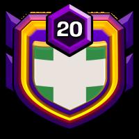 green leaf badge