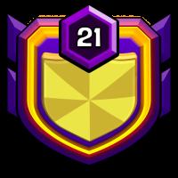 Golden X badge
