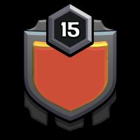 BEST WARRIOR badge