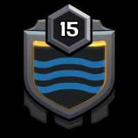 Black sea shark badge