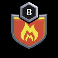 FOR WAR STAR badge